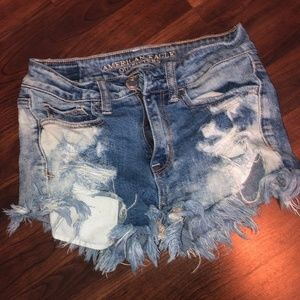American Eagle High-Waisted Distressed Shorts
